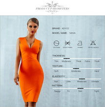 Load image into Gallery viewer, ADYCE Summer Bandage Dress Vestidos 2020 Red Orange Tank Sexy Deep V-Neck Sleeveless Bodycon Runway