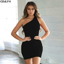 Load image into Gallery viewer, Sexy Club Mini-Dresses Summer Solid Color Backless Nightclub Dress Bodycon Sundress Elegant Party