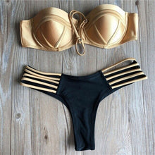 Load image into Gallery viewer, 2020 Colourful Padded Bikini's Many Styles Swimsuit Push Up Swimwear String Thong Summer