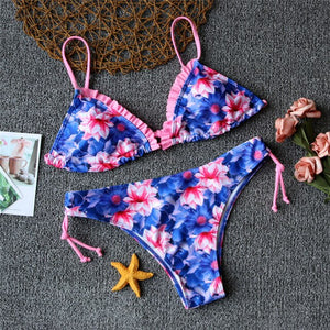 Sexy print Padded Bikini's Many Styles Hot Swimwear Swimsuit Strappy Push Up Low Waist