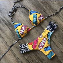Load image into Gallery viewer, Sexy print Padded Bikini's Many Styles Hot Swimwear Swimsuit Strappy Push Up Low Waist