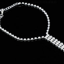 Load image into Gallery viewer, 2pcs Trendy Ankle chain Rhinestone Barefoot Beach Jewellry Crystal Toe Anklet Boho Wedding Jewellry