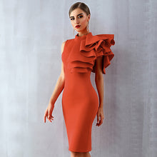 Load image into Gallery viewer, Adyce Summer Red White Party Dress Vestido Sexy Sleeveless Ruffles Bodycon Midi Club