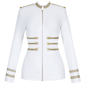 Ocstrade White Jackets Spring Autumn Coat 2020 Party High Quality Plus Size Bandage