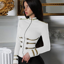 Load image into Gallery viewer, Ocstrade White Jackets Spring Autumn Coat 2020 Party High Quality Plus Size Bandage