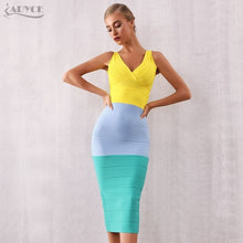 Load image into Gallery viewer, Adyce Summer Bodycon Bandage Dress Sexy V Neck Sleeveless Tank Club Evening Party
