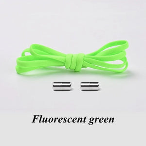 1Pair No-tie Shoelaces 21 colours Round Elastic Shoe Laces For Kids and Adult Sneakers casual