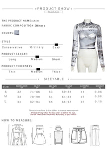 Sexy Hollow out Mesh Transparent Slim T-shirt Casual Long Sleev O-Neck Crop Top Streetwear