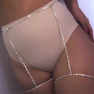 Rhinestone Legged Waist Chain Garter Bikini Thigh Chain Body Jewellry Sexy