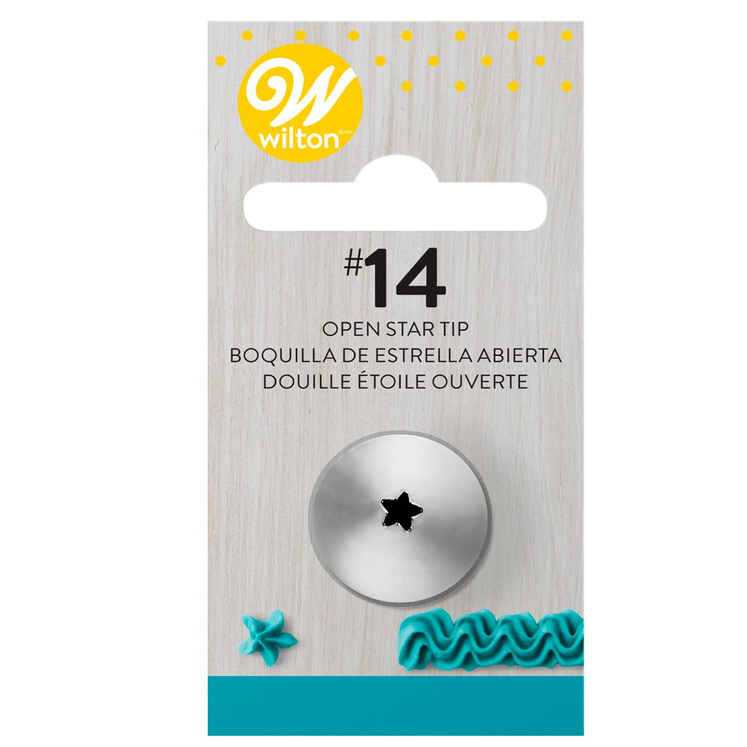 Wilton Decorating Tip #014 Open Star Carded