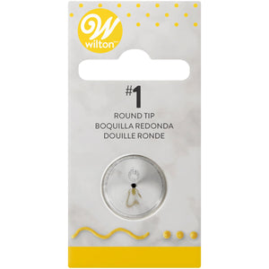 Wilton Decorating Tip #001 Round Carded