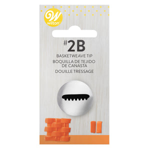 Wilton Decorating Tip #2B Basketweave Carded