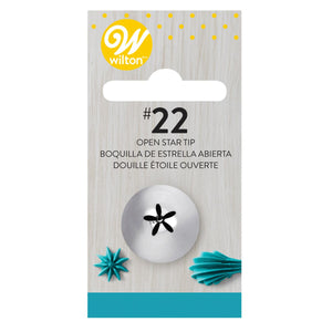 Wilton Decorating Tip #022 Open Star Carded