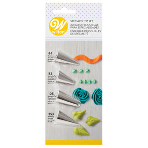 Wilton Decorating Tip Set Specialty #44, #83, #105, #353