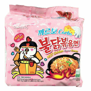 SAMYANG RAMEN HOT CHICKEN CARBO Pack de 5 (Rose)