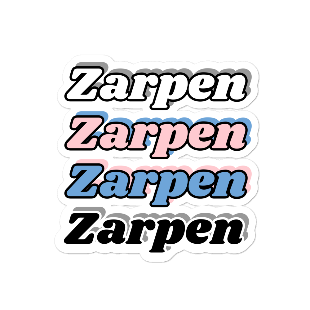 Zarpen (4 Logos) Bubble-free stickers