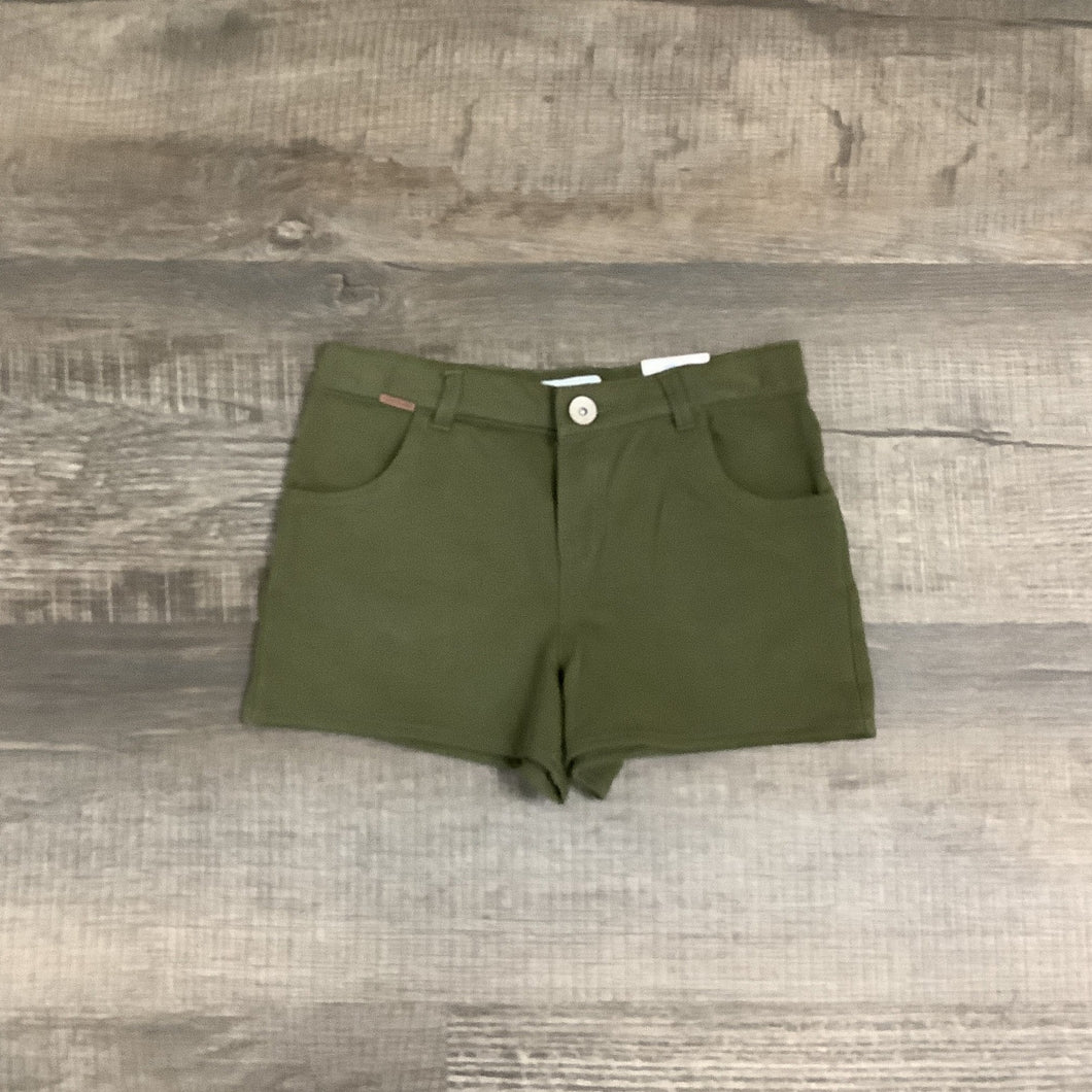 Comfy Five Pocket Olive Knit Shorts