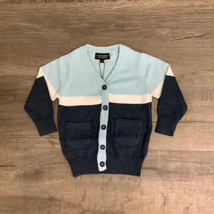 Leo & Zachary GABE Pale Blue & Navy Cardigan
