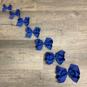 Royal Blue Basic Essential Bow
