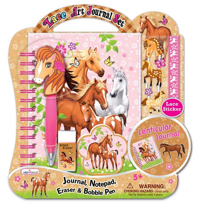 Hot Focus Lace Art Journal Set, 3-D Enchanted Horse