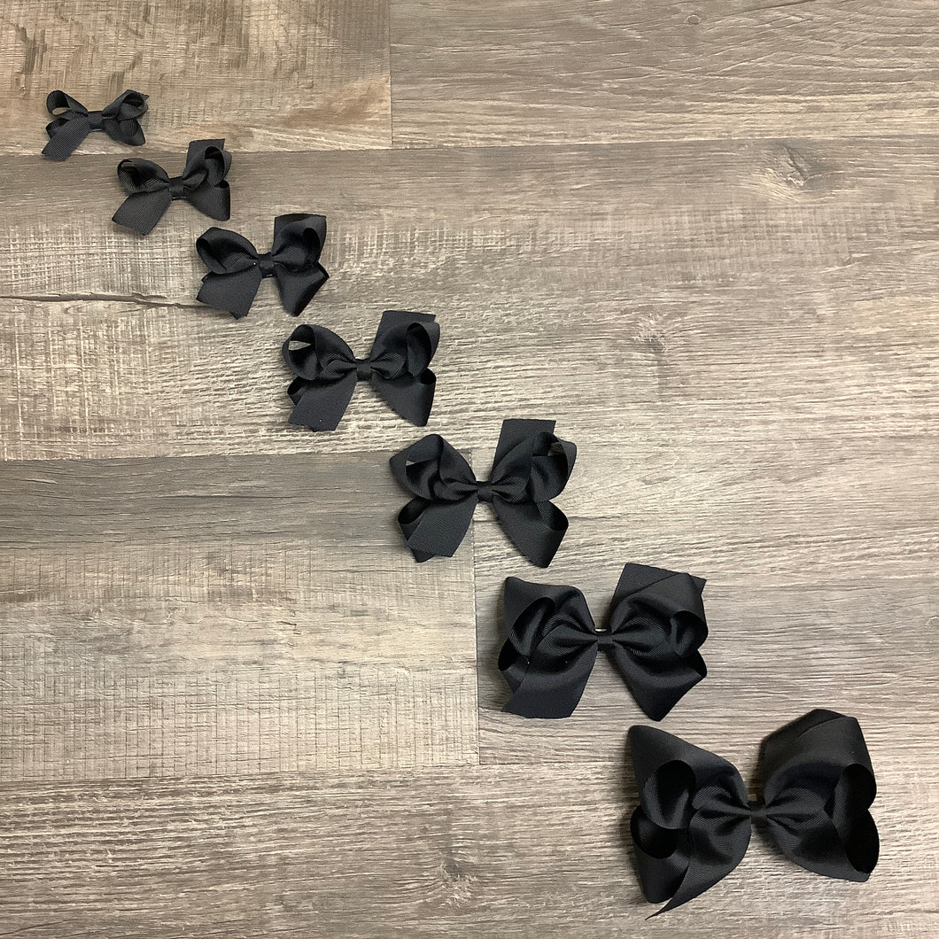 Black Basic Essential Bow