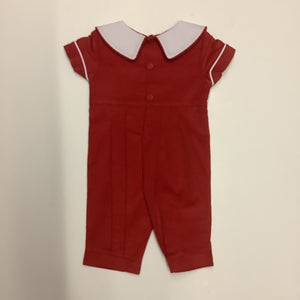 Mom and Me Boys Red Corduroy Christmas Coverall