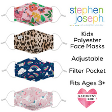 Load image into Gallery viewer, Stephen Joseph Polyester Adjustable Kids Mask with Filter Pocket