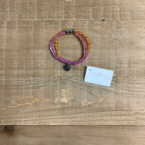 Multi Colored Beaded Stretch Bracelet by Jane Marie Kids