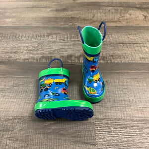 Transportation Blue Rain Boots