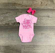 "Load image into Gallery viewer, Sweet Wink ""Little Sister"" Onesie"
