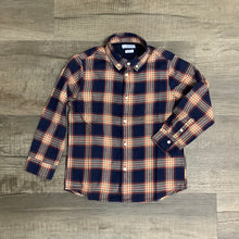 Load image into Gallery viewer, Mayoral Boys Navy Plaid Button Collar Long Sleeve Shirt