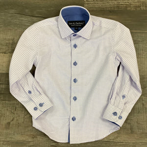 Boys Lavender and Blue Check Shirt