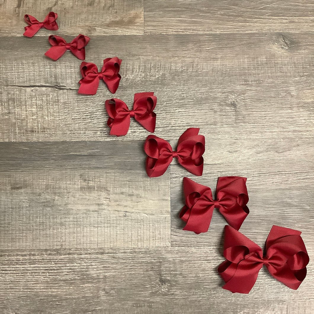 Cranberry Basic Essential Bow