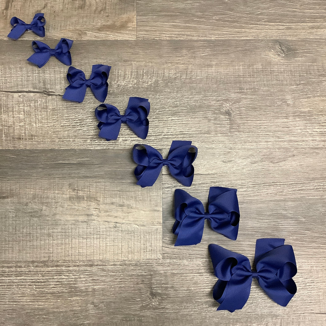 Light Navy Basic Essential Bow