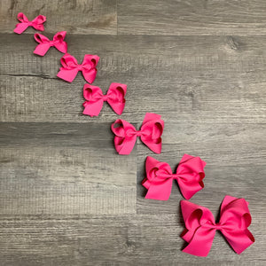 Shocking Pink Basic Essential Bow