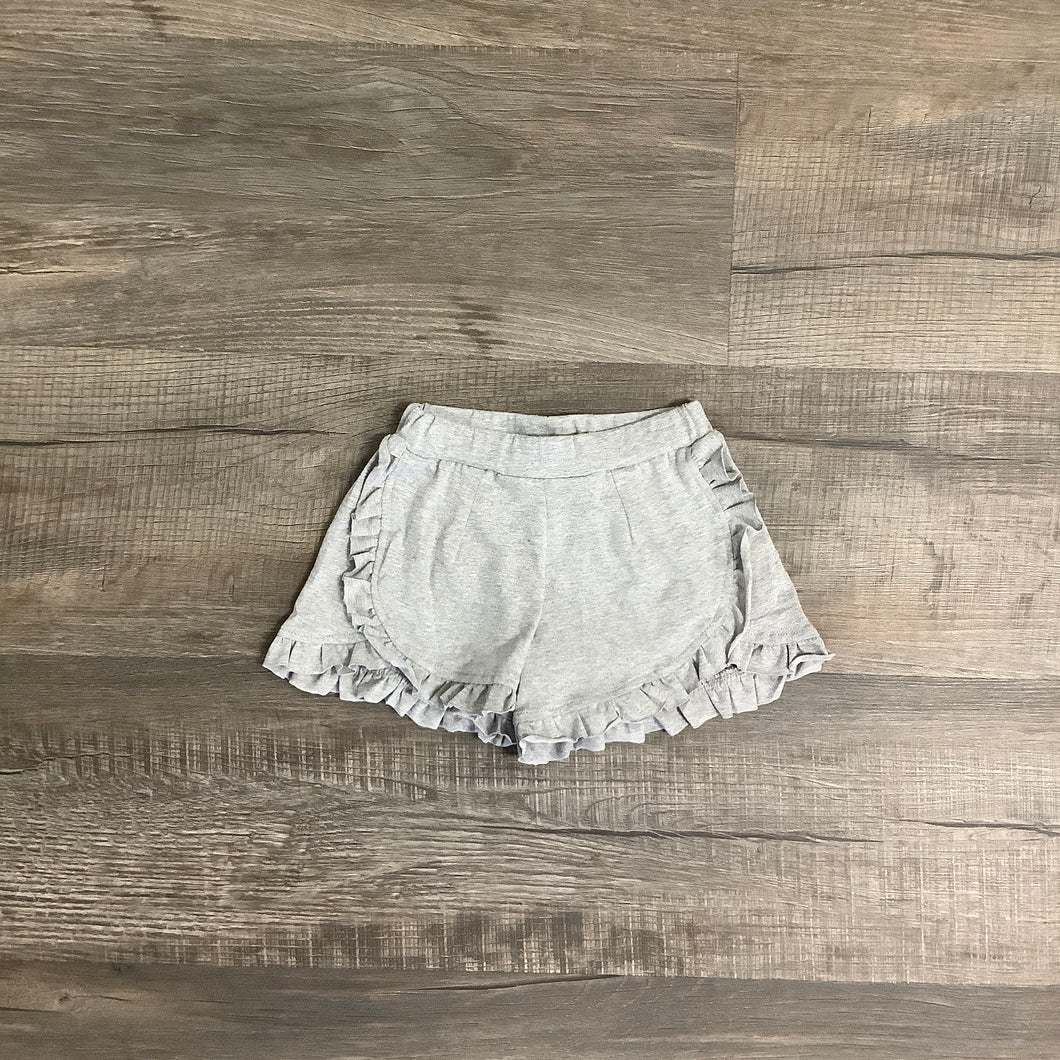 Gray Ruffle Shorts
