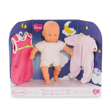 "Load image into Gallery viewer, COROLLE Mini Calin ""Goodnight"" 8"" Doll Gift Set"