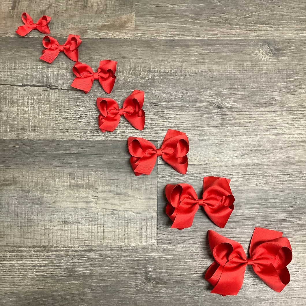 Red Basic Essential Bow