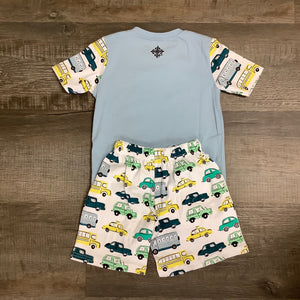 Boys Car Pajama Short Set