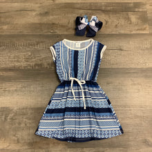 Load image into Gallery viewer, Blue Stripe & Print Dress