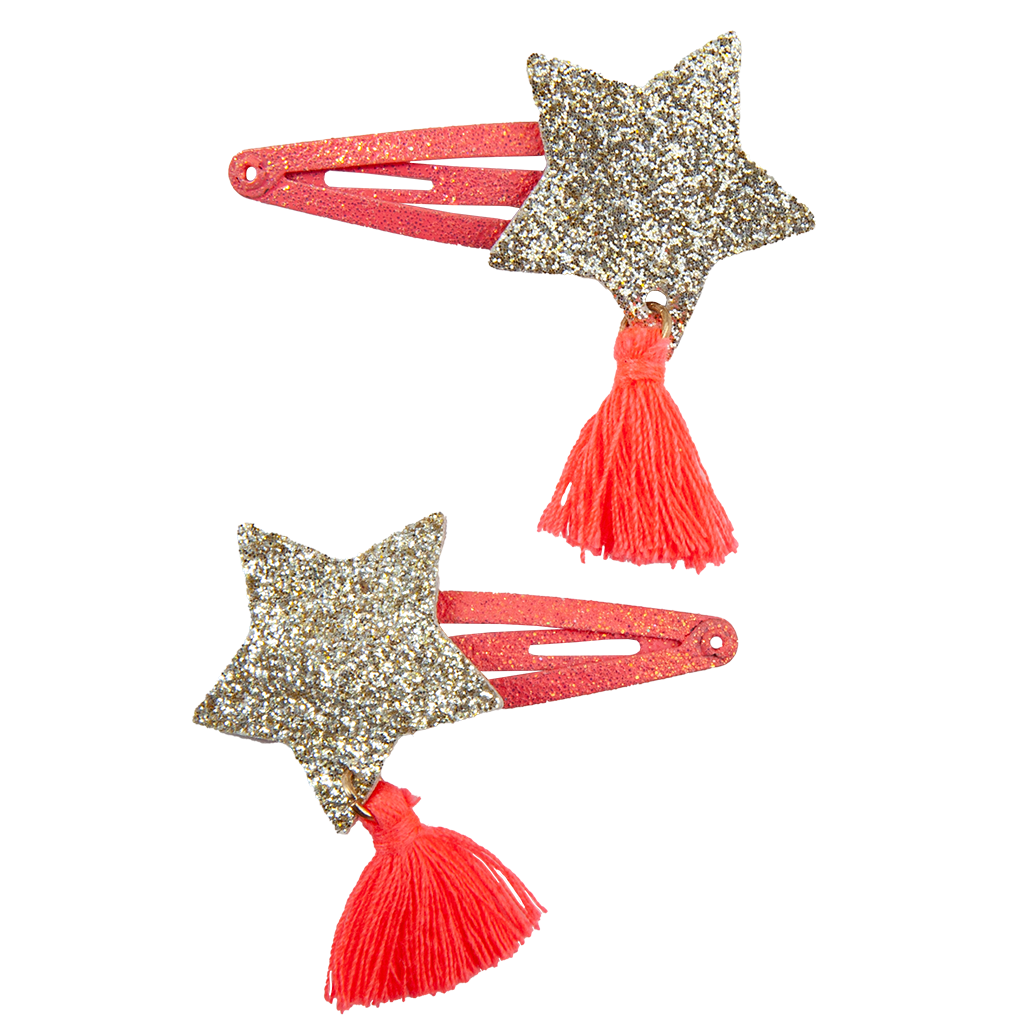 Great Pretenders Boutique Sassy Tassy Star Hairclips, 2-pieces