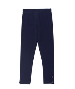 CR Kids Basic Navy Leggings w/ Button Placket