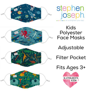 Stephen Joseph Polyester Adjustable Kids Mask with Filter Pocket