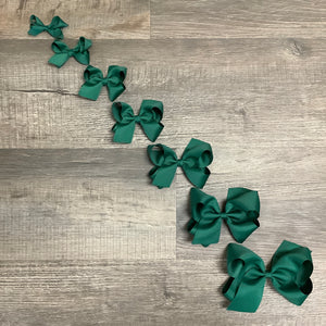 Forest Green Basic Essential Bow