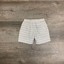 Load image into Gallery viewer, Heather Gray and White Stripe Pull On Knit Short