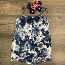 Load image into Gallery viewer, Navy Blue Tie Dye Romper w/ Braided Straps