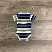 Load image into Gallery viewer, Boys Blue & Green Striped Onesie