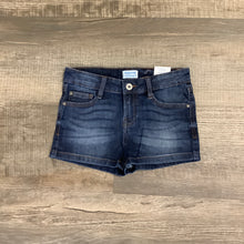 Load image into Gallery viewer, 7-14 Girls 5 Pocket Dark Washed Jean Shorts