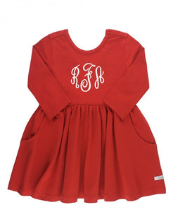 Ruffle Butts Red Twirl Dress