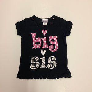 "Reflectionz ""Big Sis"" Zebra Polka Dot Shirt"